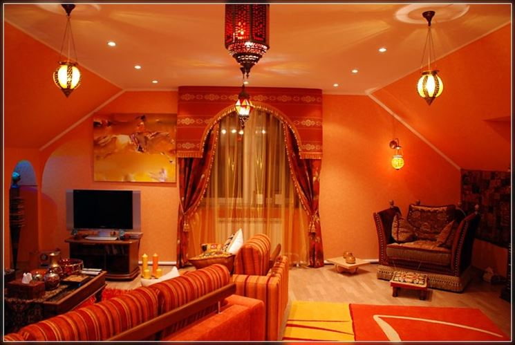 Caratteristiche dello stile etnico arredare la casa for Arabic living room decoration