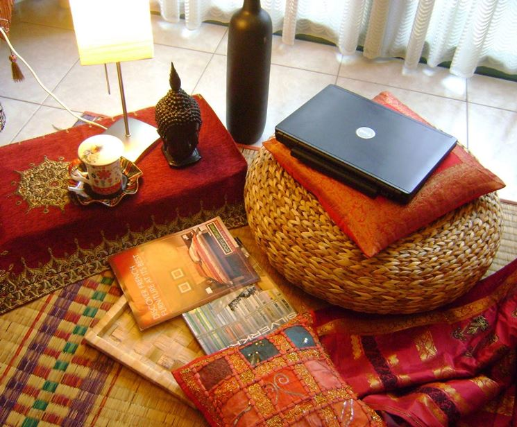 Angolo in stile etnico indiano