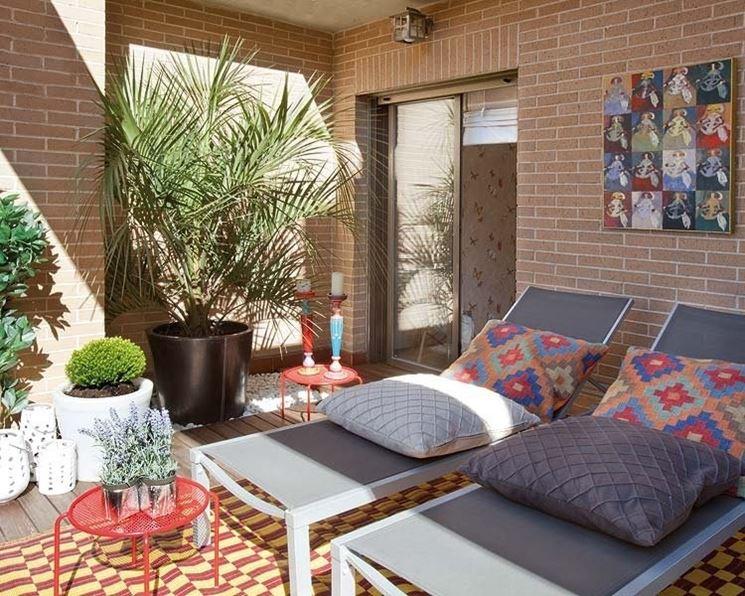 Zona relax in terrazzo