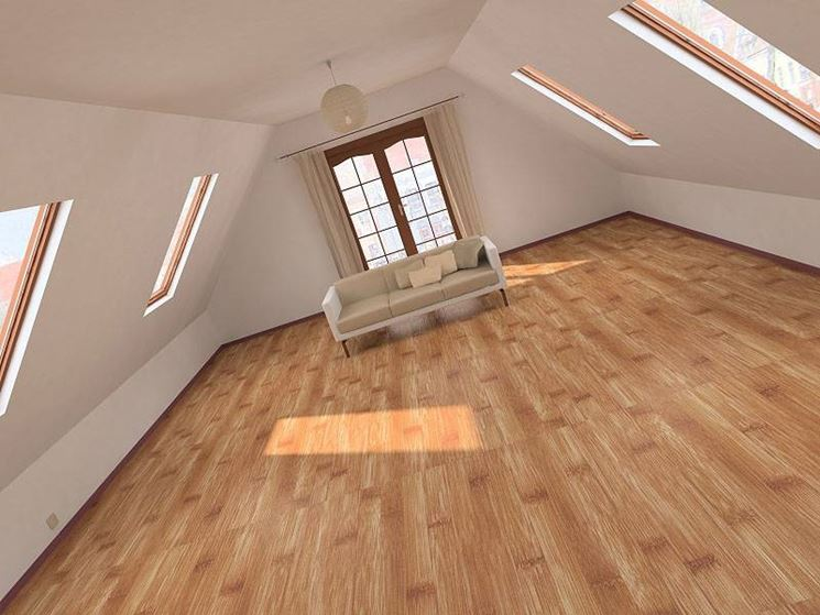 Mansarda arredare la casa consigli su come arredare la mansarda - Attic bedroom design ideas with wooden flooring ...
