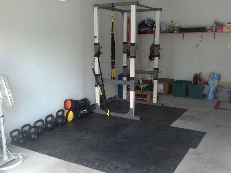 Palestra nel garage di casa