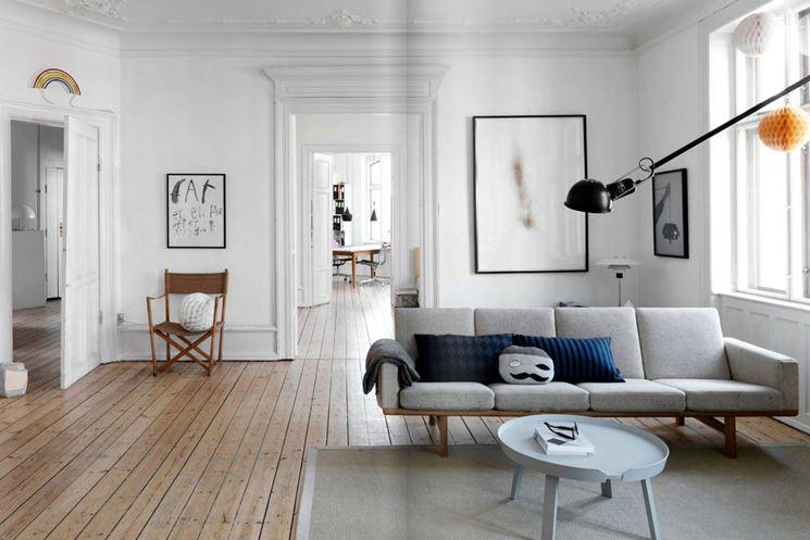 Esempio di soggiorno scandinavo