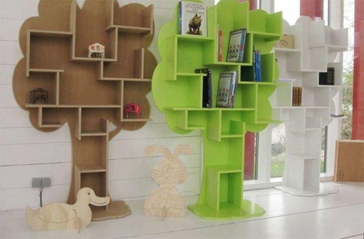 Libreria modulare per interni abitazione