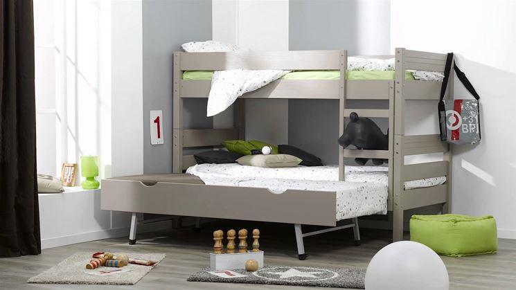 Un simpatico letto a castello per bambine