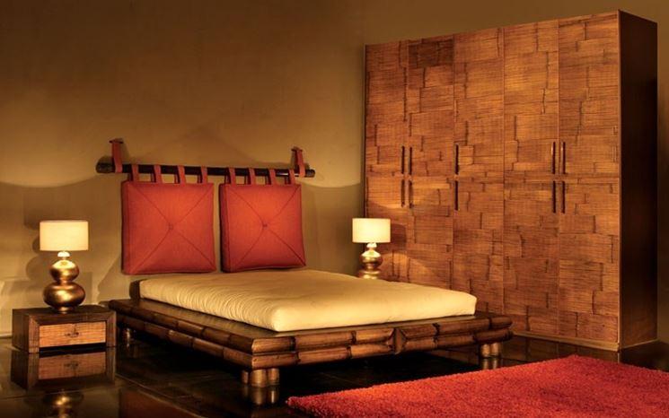 camera da letto stile Africa