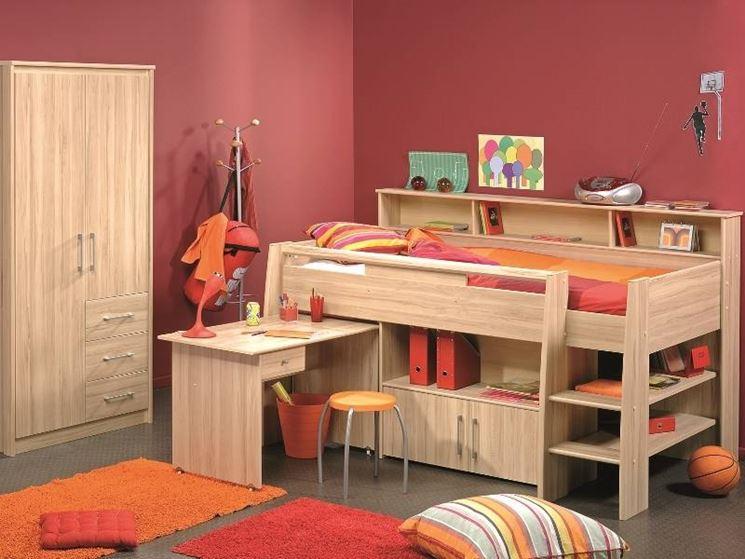 modelli di camerette per bambini cura dei mobili tanti