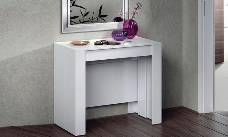 Modelli di consolle allungabili cura dei mobili for Consolle bianca