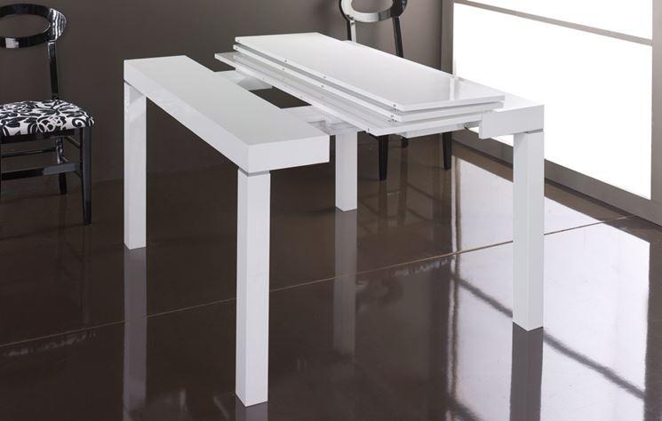 Tavolo consolle allungabile in faggio