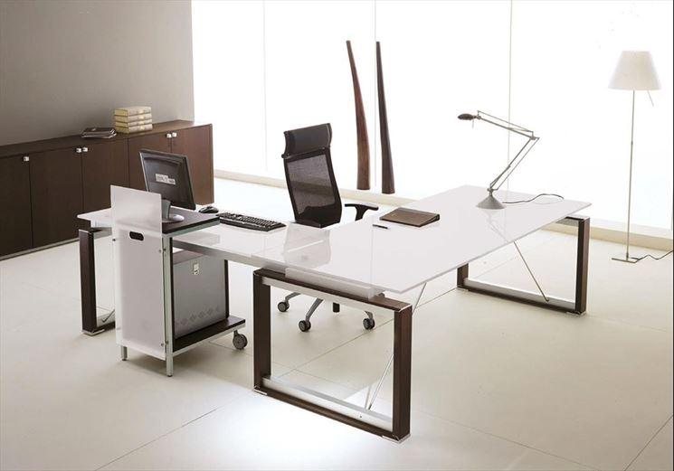 Porta computer in legno e vetro