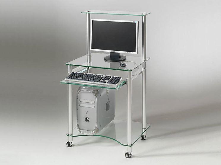 Mobile porta computer in vetro