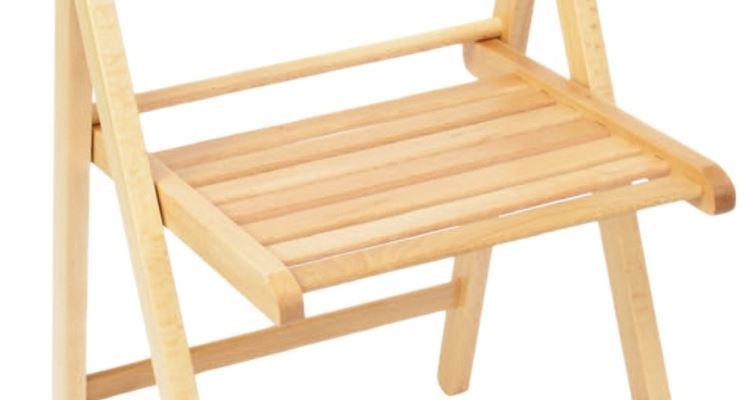 modello sedia pieghevole in legno