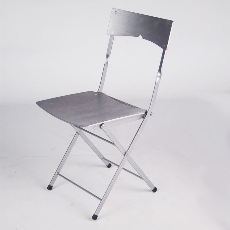 modello sedia pieghevole in metallo