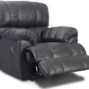 poltrona reclinabile nera