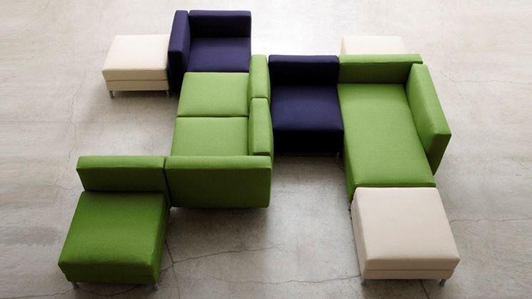 divani modulari colorati