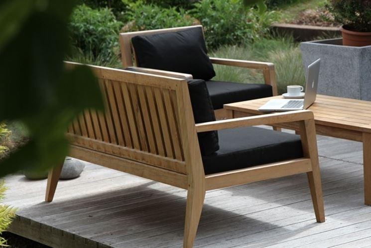 divani legno giardino idee per il design della casa. Black Bedroom Furniture Sets. Home Design Ideas