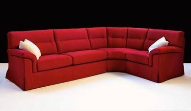 divano componibile rosso a sei posti