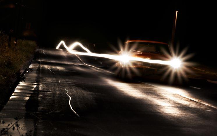 Luci auto notte