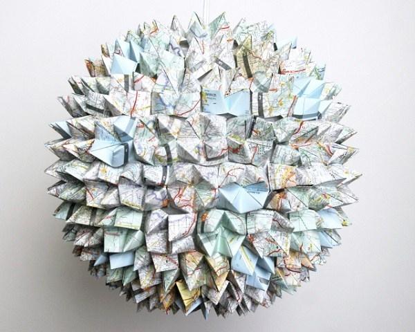 Modelli di lampade di carta origami lampade e lampadine
