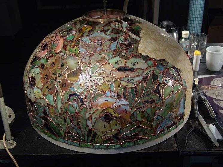 Realizzazione lampada Tiffany