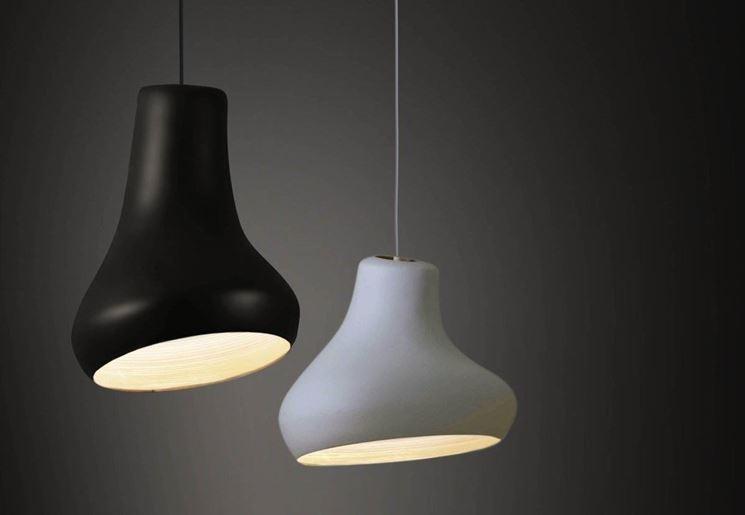 Lampada bianca e nera