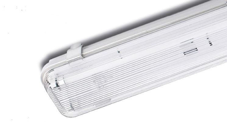 Modelli di plafoniere a neon lampade e lampadine for Beghelli r7s 78mm
