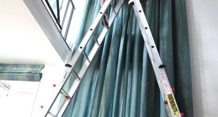 installazione tendaggio