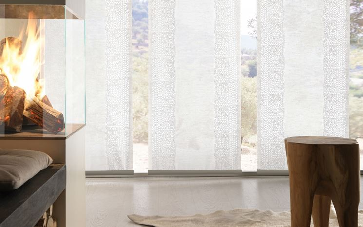 Modelli di tende per finestre scelta tendaggi come for Tende a vetro salotto