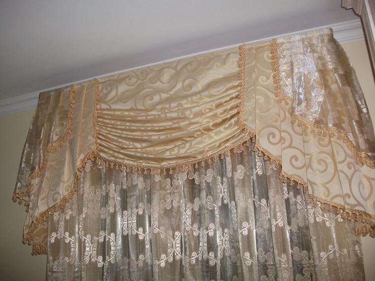 Tende classiche con mantovana scelta tendaggi tende con mantovana - Tende da camera da letto classiche ...
