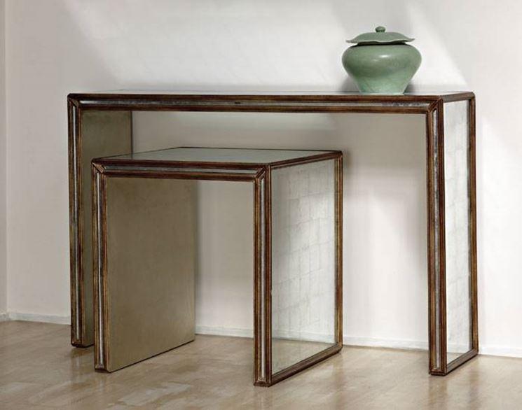 Il tavolo a consolle consente di risparmiare spazio