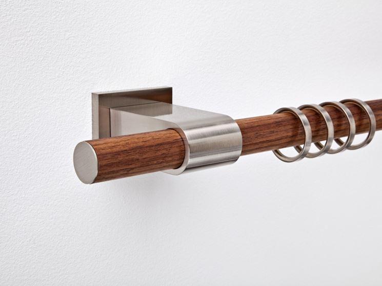 bastone in legno per tende