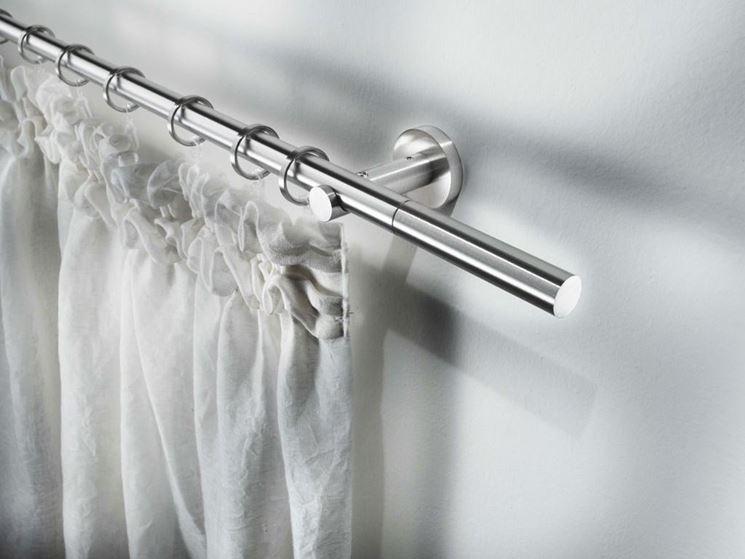 bastone in acciaio per tende