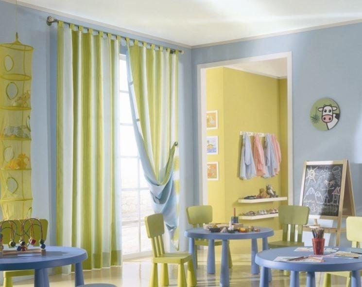 Modelli di tende da arredamento tende e tendaggi tende - Tendaggi cucina ...