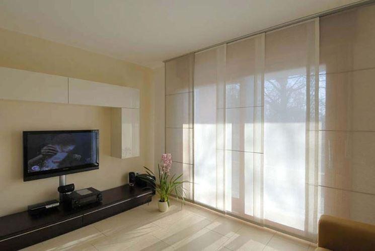 Modelli di tende per interni moderni tende e tendaggi tende moderne per interni - Tenda per porta finestra ...