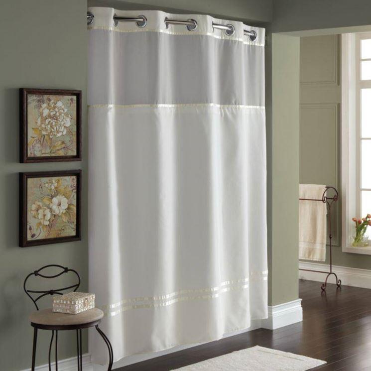 Modelli e materiali delle tende doccia tende e tendaggi - Tende per doccia in tessuto ...