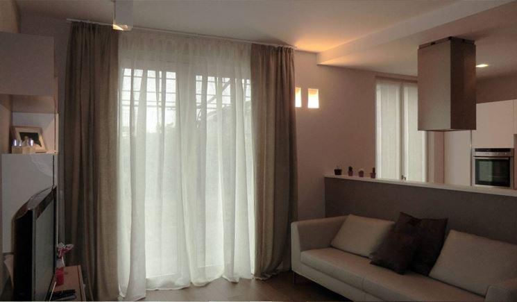 Tende arredamento moderno tende e tendaggi le - Tende porta finestra ...