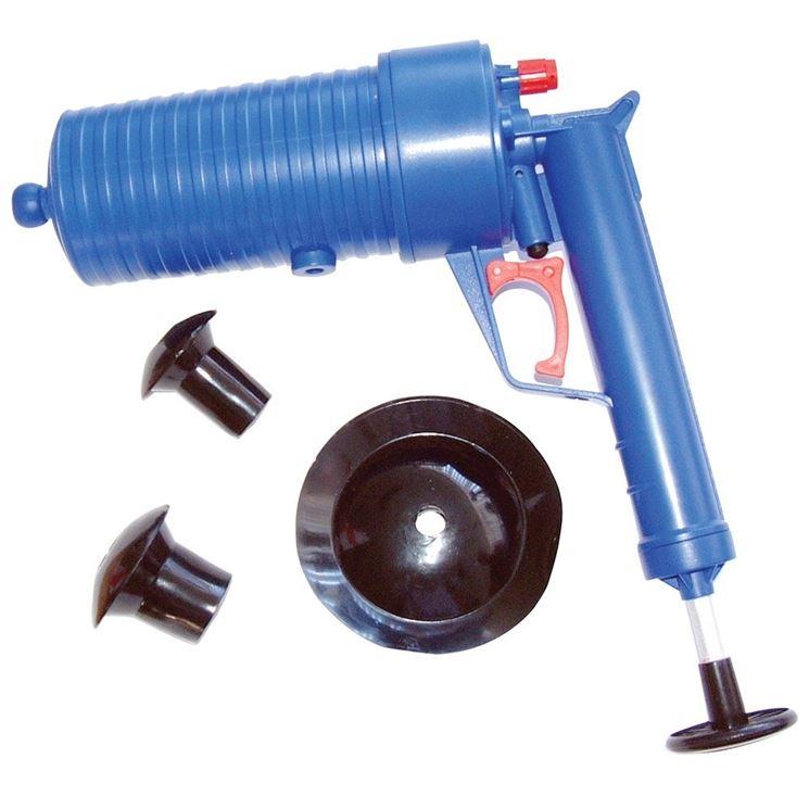 Particolare sturalavandini a pistola, molto più efficace e facile da usare