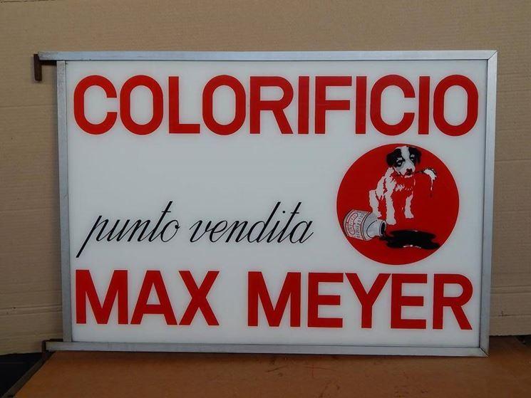 Un'insegna d'epoca max Meyer