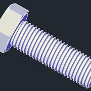Esempio di bullone in formato dwg 3D