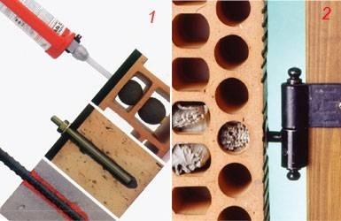 Tasselli chimici per mattoni forati