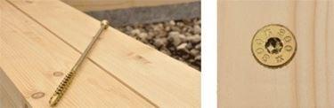 Vite per legno a zincatura gialla.