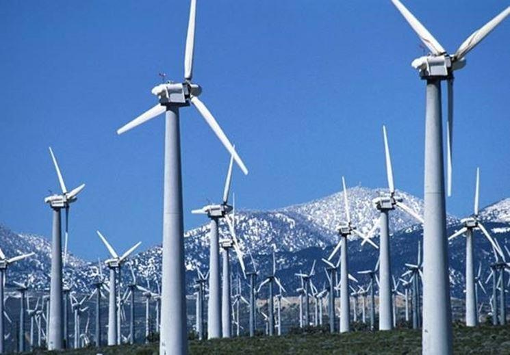 Un impianto per l'energia eolica
