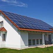 Pannelli fotovoltaici di un impianto di un'abitazione privata