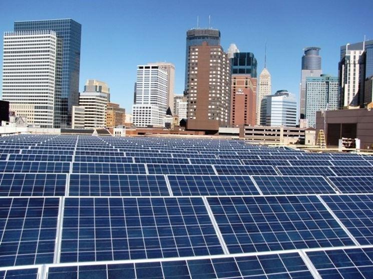 Impianto fotovoltaico in una metropoli americana