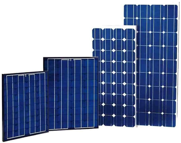 Pannelli solari di diversi tipi
