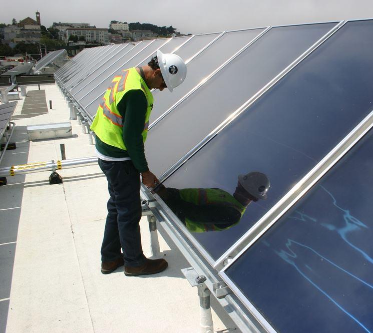 Scherma funzionamento pannello fotovoltaico