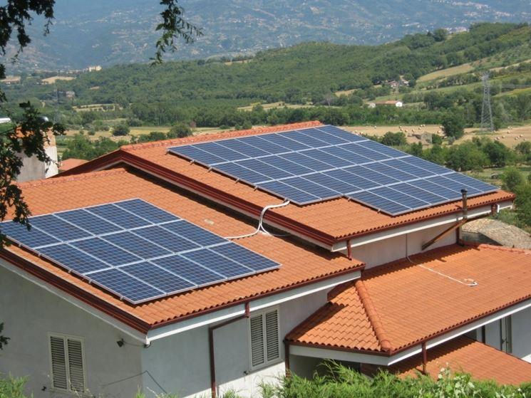 Esempio di impianto fotovoltaico familiare.