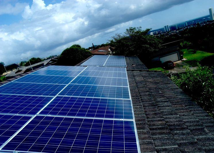 Esempio di una schermata di rilevazione dei dati per il monitoraggio dell'impianto fotovoltaico