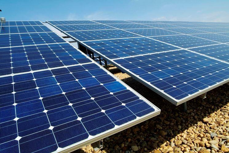 Esempio di grande impianto fotovoltaico.
