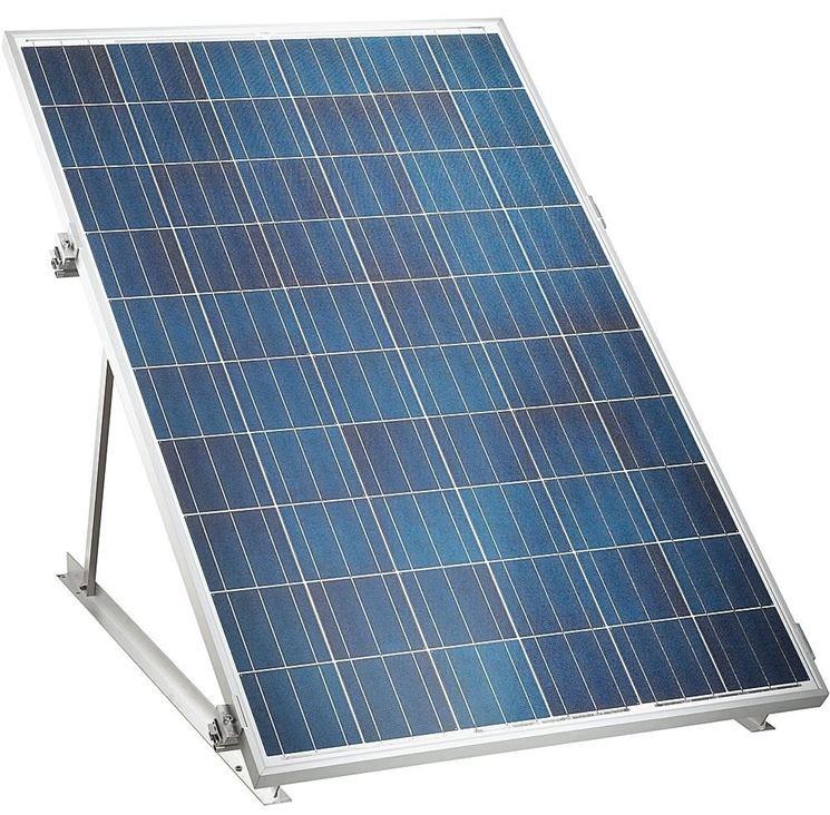 pannello solare rialzato