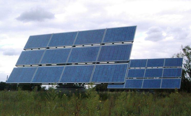 pannelli fotovoltaici con rialzo